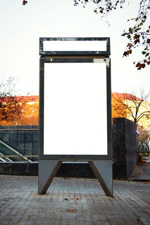 lightbox: Empty lightbox on the street of the city. Vertical
