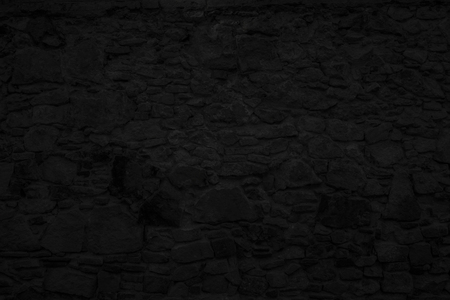 Highly detailed and empty black stone wall. Horizontal Imagens - 51532810