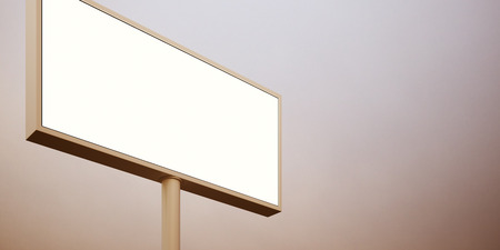 billboard background: Billboard with empty digital screen, against abstract background. Wide.