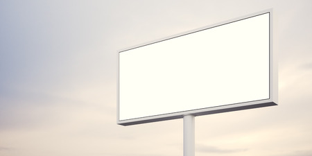 billboard background: Billboard with empty digital screen ready for new advertisement, abstract background. Wide.