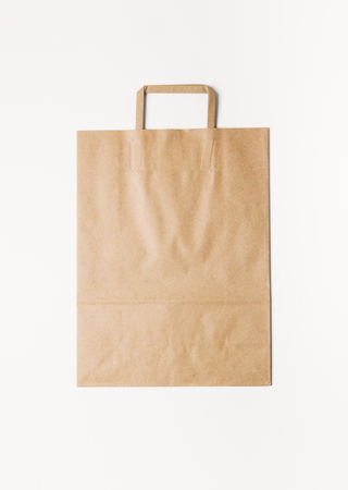 craft product: Craft shopping bag isolated on white background.