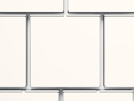 boxs: Closeup blank close pizza paper boxs isolated on white background. Horizontal mockup.