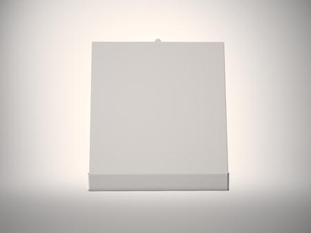 pizza box: Photo empty white open pizza box on abstract background. Horizontal mockup. Stock Photo