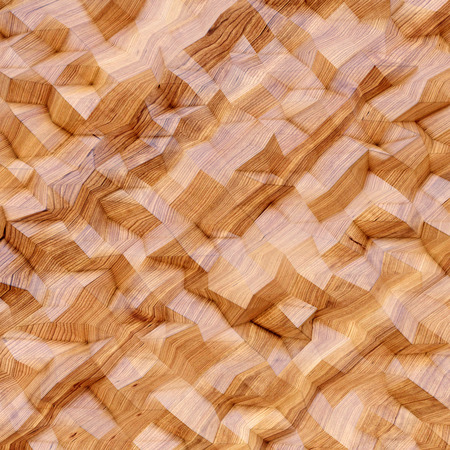 wood structure: Photo of highly detailed multicolor polygon. Orange geometric  low polygons style. Abstract gradient graphic background. Wood structure. Square. Stock Photo