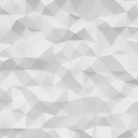 Photo of highly detailed polygon. White geometric rumpled triangular low poly style. Square. Stock Photo