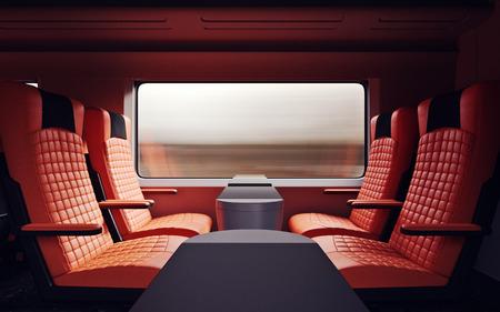 firstclass modern armchair. Interior Inside First Class Cabin Modern Speed Express Train Nobody Red  Chairs Window Comfortable