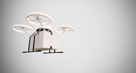 generic medicine: Medicine Generic Design Remote Control Air Drone Flying White Box Under Empty Surface.Blank Light Background.Global Cargo Aid Supplies Express Delivery.Wide,Motion Blur effect.3D rendering