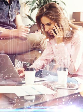 Globale Strategie-Verbindungs-Daten-virtuelles Ikonen-Innovations ...