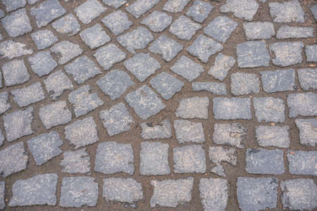 paving stone paving slabs semicircle top view texture. Standard-Bild