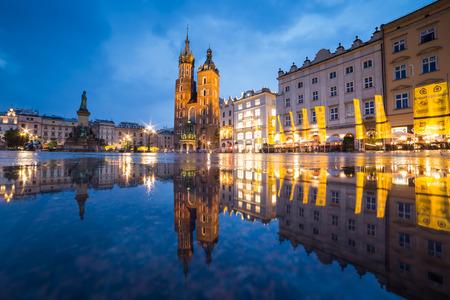 Cracovie pendant la nuit Éditoriale