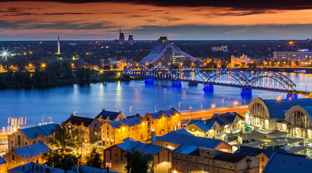 RIGA IN LATVIA Stock Photo