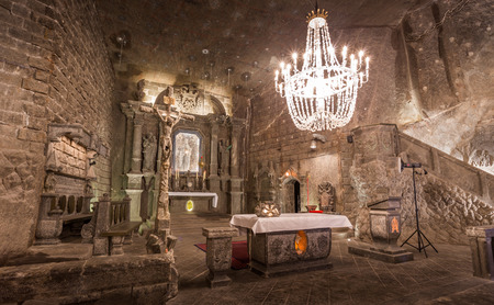 Wieliczka Salt Mine (13th century), one of the world\'s oldest salt mines.