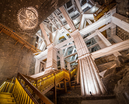 Wieliczka Salt Mine (13th century), one of the world's oldest salt mines. Stok Fotoğraf - 38839476