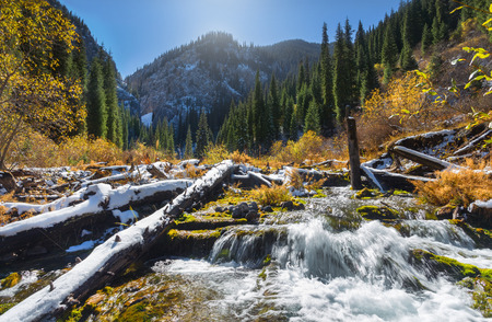 tyan shan: Landscape of kazakhstan Stock Photo