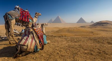 piramide van Gizeh in Egypte Stockfoto