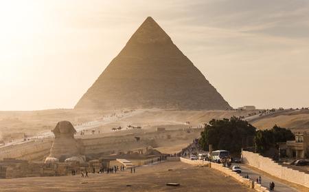 Piramide van Gizeh in Egypte Stockfoto - 38844608