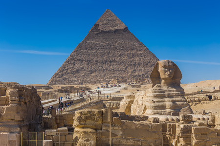 chephren: pyramid of Giza in Egypt