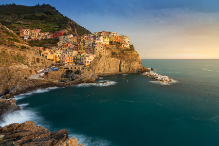 a beautiful village in the National park of Cinque Terre, Italy photo