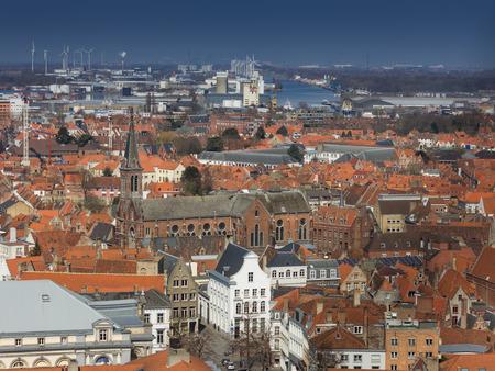 bruges: old town of Bruges in Belgium