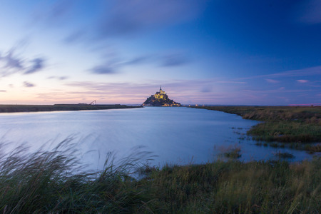 mont: Mont st Michel in France Stock Photo