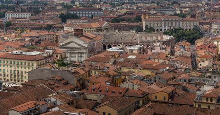 verona: Colorful panoramic view of Verona Editorial