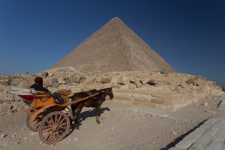 chephren: Egypt. Cairo - Giza. General view of pyramids Stock Photo