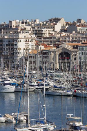 carlo: Panoramic view of Monte Carlo harbour in Monaco.