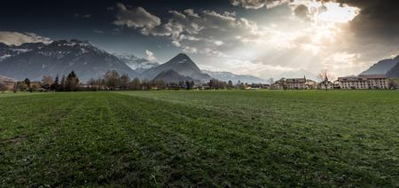 interlaken: Landscape in Interlaken, Switzerland