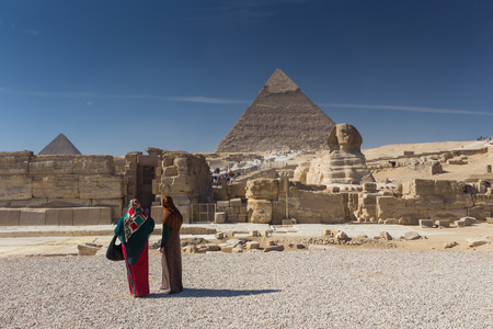 antiquities: Egypt. Cairo - Giza. General view of pyramids Stock Photo