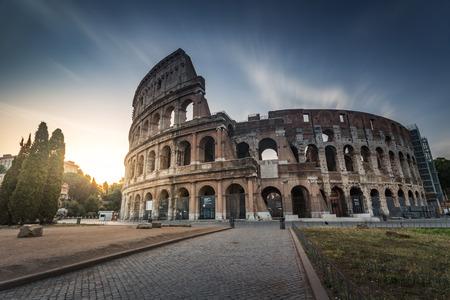 roman amphitheater: Colosseum in Rome Italy