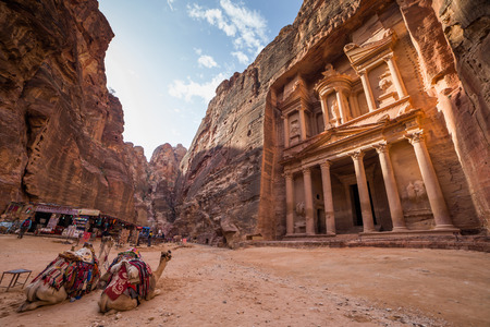 petra  jordan: Ancient temple in Petra, Jordan Editorial