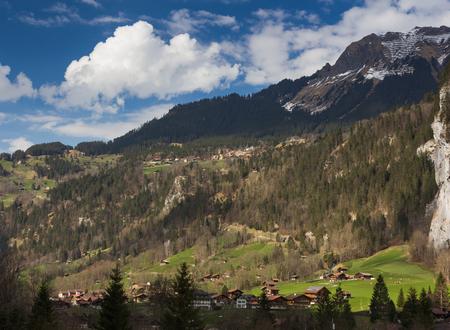behind scenes: Landscape in Interlaken, Switzerland