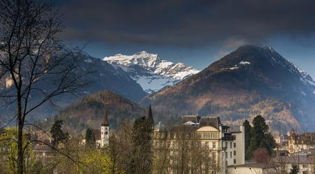behind scenes: Landscape of Swiss Stock Photo
