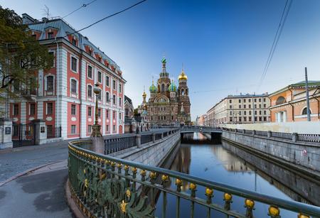 サンクトペテルブルク、ロシアこぼした血の上の救世主教会 写真素材