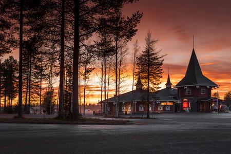 Santa Claus Village. Rovaniemi, Finland, Arctic Circle. 7.10.2015 Editoriali
