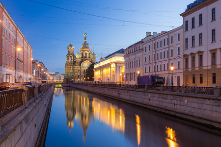 Kerk van de Verlosser op Bloed, St. Petersburg, Rusland Redactioneel