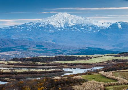 mountain CHOKAI akita Stok Fotoğraf