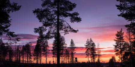 Santa Claus Village. Rovaniemi, Finland, Arctic Circle. Stok Fotoğraf