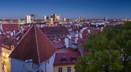 Tallinn, Estonia at the old city.