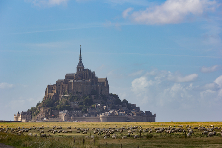 mont saint michel: Mont saint michel in france