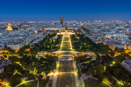 parisian scene: Paris Panorama Stock Photo