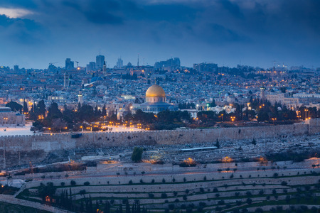 エルサレム旧市街の眺め。イスラエル 写真素材 - 53667686