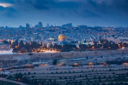 Ansicht von Jerusalem Altstadt. Israel Standard-Bild - 53667686