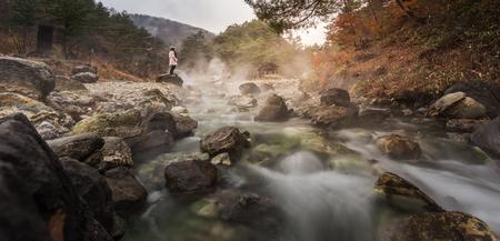Kusatsu onsen in Japan Stok Fotoğraf