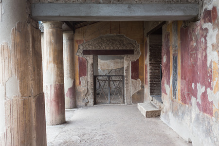 The famous antique site of Pompeii, near Naples in Italy