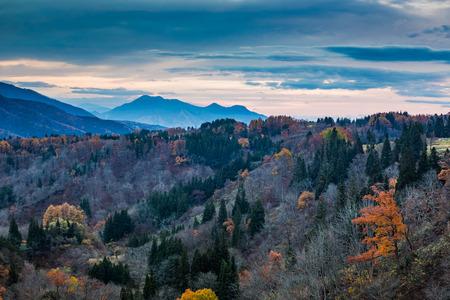 Iiyama landscape, Nagano, Japan Stok Fotoğraf - 53671862