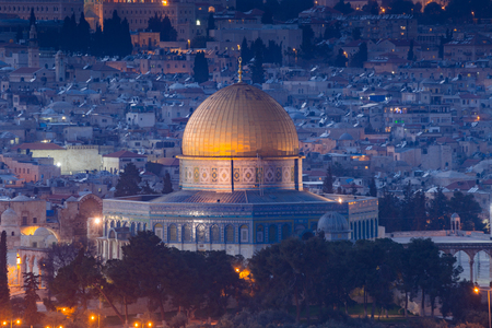 promised: View of Jerusalem old city. Israel Stock Photo