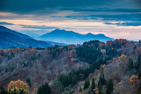 Iiyama landscape, Nagano, Japan Stok Fotoğraf