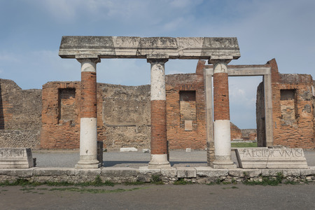The famous antique site of Pompeii, near Naples in Italy Stok Fotoğraf - 53666974