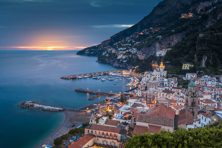 view of beautiful Amalfi town Stok Fotoğraf - 53672268